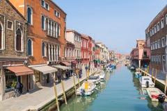 Costruzioni e barche in Murano Fotografie Stock