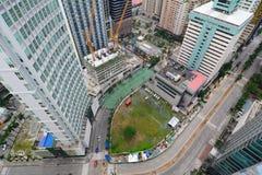 Costruzioni e traffico nella città di Ortega, Manila Fotografia Stock Libera da Diritti