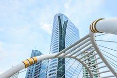 Costruzioni ed architettura dello skywalk Fotografia Stock Libera da Diritti