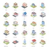 Costruzioni ed icone di architetture royalty illustrazione gratis