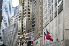 Costruzioni finanziarie del distretto, New York Fotografia Stock