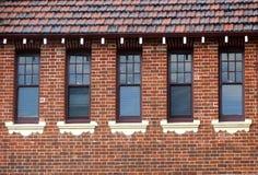 Costruzioni - finestre Fotografia Stock Libera da Diritti