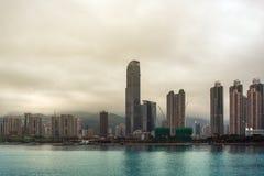 Costruzioni in Hong Kong Fotografie Stock Libere da Diritti