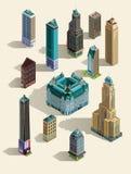 Costruzioni isometriche illustrazione di stock