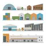 Costruzioni logistiche del magazzino illustrazione di stock