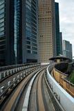 Costruzioni medie della stazione ferroviaria moderna alla città Yokyo, Ja Fotografie Stock