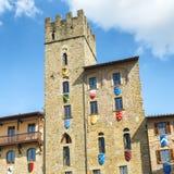Costruzioni medievali antiche a Arezzo, Toscana fotografia stock