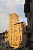 Costruzioni medioevali a Arezzo (Toscana, Italia) Fotografie Stock Libere da Diritti