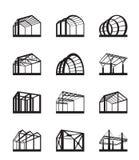 Costruzioni metalliche nella prospettiva Immagini Stock Libere da Diritti