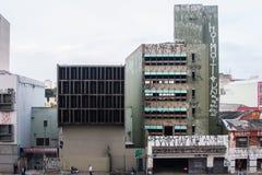 Costruzioni miste abbandonate di architettura Immagini Stock