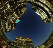 Costruzioni moderne al tramonto Fotografia Stock Libera da Diritti