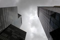Costruzioni moderne alte Immagini Stock Libere da Diritti