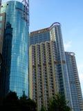 Costruzioni moderne alte a Shanghai Fotografie Stock