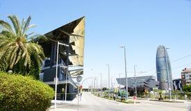 Costruzioni moderne a Barcellona Fotografia Stock Libera da Diritti