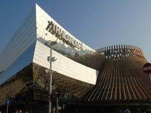 Costruzioni moderne dall'Expo di Milano fotografia stock libera da diritti