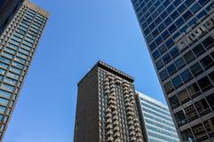 Costruzioni moderne del condominio a Montreal del centro Fotografia Stock