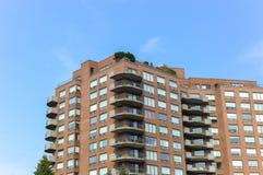 Costruzioni moderne del condominio a Montreal del centro Fotografia Stock Libera da Diritti