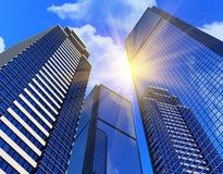 Costruzioni moderne di affari Fotografia Stock Libera da Diritti