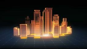 Costruzioni moderne di configurazione, costruzione della costruzione Immagine dei raggi x royalty illustrazione gratis
