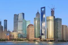 Costruzioni moderne di lujiazui di Shanghai Pudong Immagini Stock Libere da Diritti