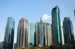 Costruzioni moderne di Lujiazui Pudong Shanghai Fotografie Stock