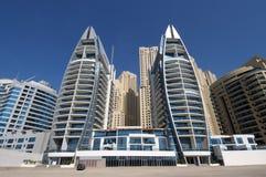 Costruzioni moderne in Doubai Fotografia Stock Libera da Diritti