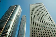Costruzioni moderne a Hong Kong Fotografie Stock Libere da Diritti