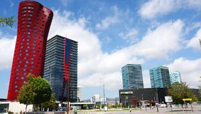 Costruzioni moderne in Hospitalet de Llobregat Immagini Stock Libere da Diritti