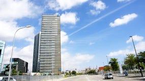 Costruzioni moderne in Hospitalet de Llobregat Immagine Stock Libera da Diritti