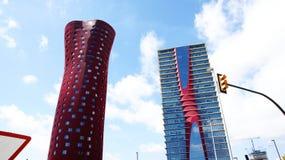 Costruzioni moderne in Hospitalet de Llobregat Immagini Stock