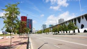 Costruzioni moderne in Hospitalet de Llobregat Fotografia Stock