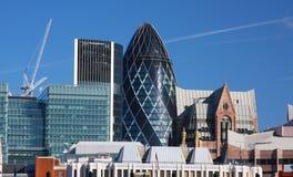 Costruzioni moderne a Londra Fotografia Stock Libera da Diritti