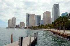 Costruzioni moderne a Miami, Florida immagine stock libera da diritti