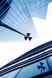 Costruzioni moderne nel distretto aziendale immagini stock libere da diritti