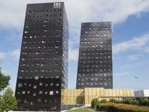 Costruzioni moderne nel Rho, Milano, Italia immagini stock
