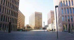 Costruzioni moderne nella città di giustizia Fotografia Stock