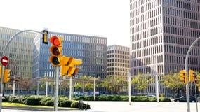 Costruzioni moderne nella città di giustizia Immagini Stock