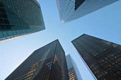Costruzioni moderne a New York Fotografia Stock Libera da Diritti