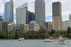 Costruzioni moderne, paesaggio urbano di Sydney Immagine Stock