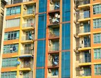 Costruzioni moderne a Rangoon del centro Immagine Stock