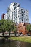 Costruzioni moderne a Rotterdam fotografia stock libera da diritti