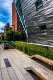 Costruzioni moderne seguendo l'alta linea in Manhattan, New York Immagini Stock Libere da Diritti