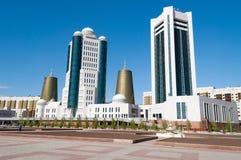 Costruzioni moderne sul boulevard di Nurzhol a Astana kazakhstan Fotografia Stock Libera da Diritti
