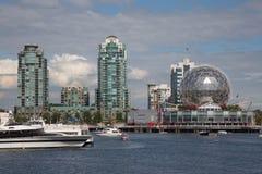 Costruzioni moderne Vancouver Canada dei grattacieli di vista di lungomare Immagini Stock