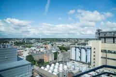 Costruzioni, mostre e viste dal museo della fabbrica di birra di Guinness Fotografia Stock Libera da Diritti