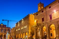 Costruzioni municipali sulla piazza Cavour a Rimini Fotografia Stock