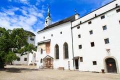 Costruzioni nel castello di Hohensalzburg di rinascita Immagine Stock Libera da Diritti