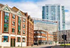 Costruzioni nel centro urbano di Belfast Fotografia Stock Libera da Diritti