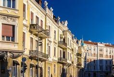 Costruzioni nel centro urbano di Belgrado immagini stock libere da diritti