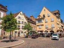 Costruzioni nel cuore di Colmar medievale immagini stock libere da diritti